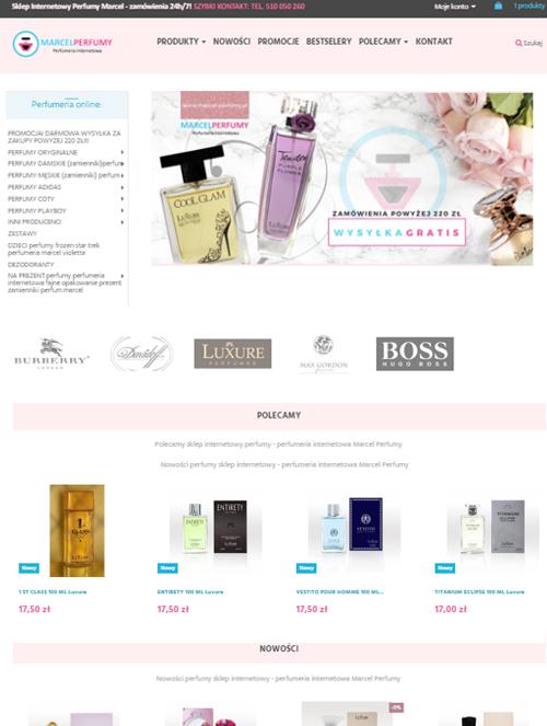 profesjonalna obsługa Facebook i instagram dla perfumerii internetowej